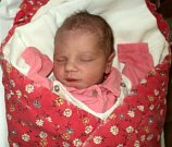 Anna Blažková, Dolní Sukolom, narozena 22. března, míra 50 cm, váha 3050 g