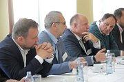 Debata Deníku s lídry politických stran v salonku Městského domu v Přerově