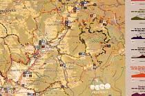 Mapa sítě Yes Cyklo na Šumpersku.
