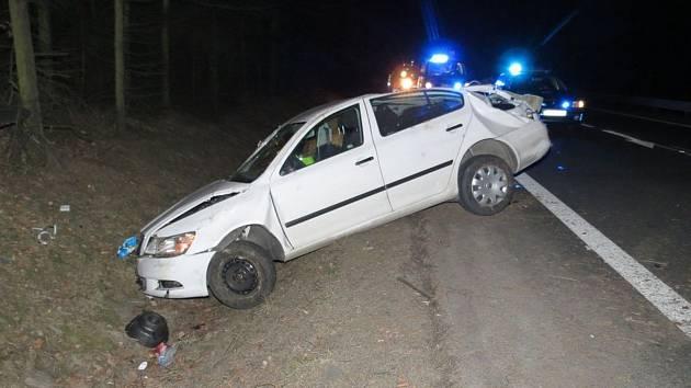 Nehoda opilého řidiče v mohelnické místní části Horní Krčmy