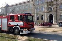 Evakuace Okresního soudu v Olomouci kvůli nahlášené bombě