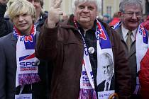 Příznivci SPOZ na prezidentské inauguraci Miloše Zemana. Ilustrační foto