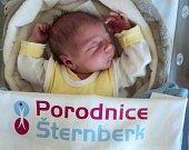 Martin Ostřanský, Cholina, narozen 26. února ve Šternberku, míra 48 cm, váha 3200 g