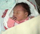 Elen Hradilová, Bohuňovice, narozena 10. dubna ve Šternberku, míra 52 cm, váha 4160 g