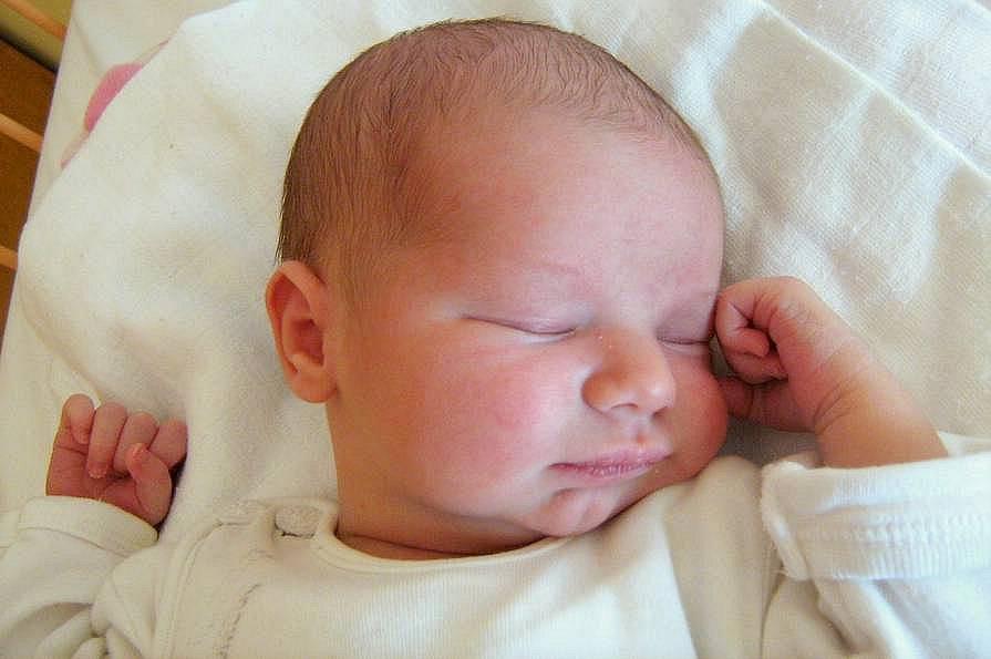 Leona Bayerová, Olomouc-Holice, narozena 5. března v Olomouci, míra 52 cm, váha 3390 g