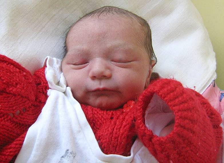 Natalie Kováčová, Luká, narozena 7. března v Olomouci, míra 49 cm, váha 2530 g