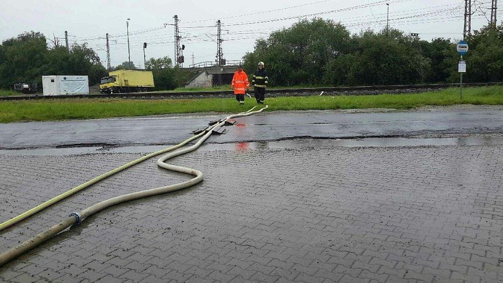 Následky vydatných srážek v Olomouckém kraji, 29. června 2020