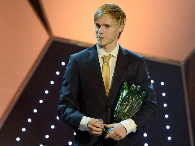 Tomáš Kalas získal 4. února v Praze cenu Talent roku v anketě Fotbalista roku 2012