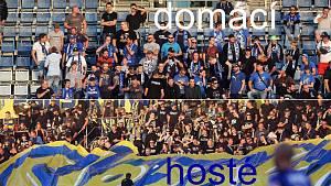 Fanoušci Sigmy a Opavy na zápase na Andrově stadionu v Olomouci