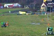 Ski areál Hlubočky, 19. ledna 2014. Snímek z webkamery