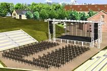 Vizualizace amfiteátru na Korunní pevnůstce v Olomouci