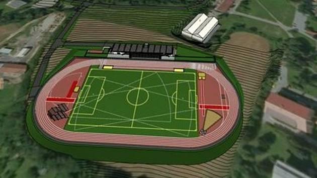 Vizualizace atletického stadionu ve Šternberku