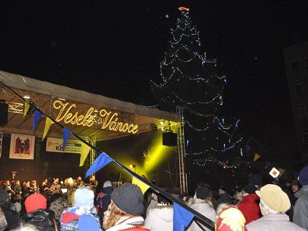 Slavnostní rozsvícení vánočního stromu na náměstí T. G. Masaryka v Přerově