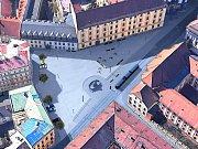 Návrh náměstí Republiky ve variantě s 9 parkovacími stáními