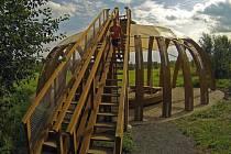 Lesní chrám. Součást Domu přírody u Horky nad Moravou