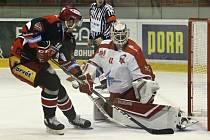 Hokejisté Mory proti Mountfieldu. Ilustrační foto