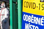 Odběrové místo pro testy na COVID-19. Ilustrační foto