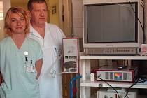 Zmodernizovaný hysterskop na šternberské gynekologii.