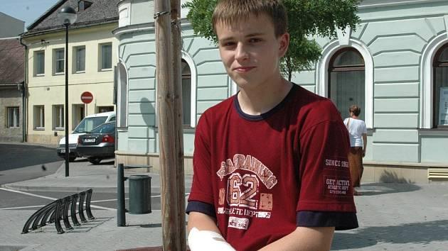Marek Pospíšil ze šternberského gymnázia.
