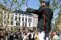 Haškovská recese na Horním náměstí v Olomouci