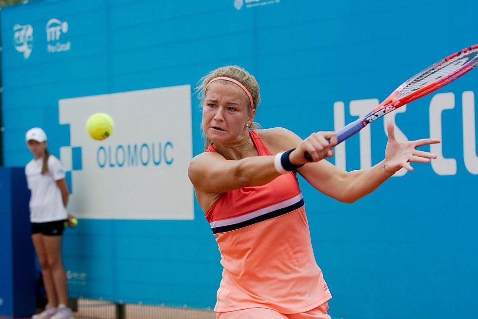 Karolína Muchová ve finále ITS Cupu v Olomouci v červenci 2018