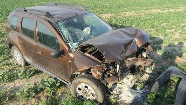 K dopravní nehodě dvou aut u obce Bělkovice-Lašťany vyjížděli v úterý ráno policisté, hasiči i zá