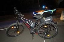 Místo srážky dvou cyklistek v Hodolanech
