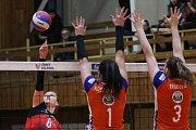 Play-off volejbalové extraligy žen: TJ Ostrava - VK UP Olomouc, 20. března 2019 v Ostravě, druhý čtvrtfinálový zápas