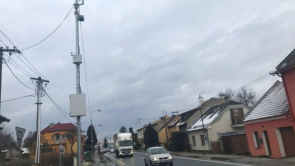Radar v Dalimilově ulici v Olomouci-Chomoutově, leden 2021