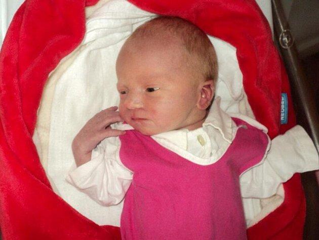 Elizabet Příborská, Uničov, narozena 14. ledna ve Šternberku, míra 52 cm, váha 3170 g