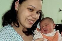 Ludmila Levá, Liboš, narozena 26. prosince ve Šternberku, míra 50 cm, váha 3650 g.