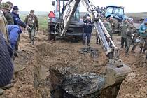 Nález havarovaného válečného letadla u Bělotína