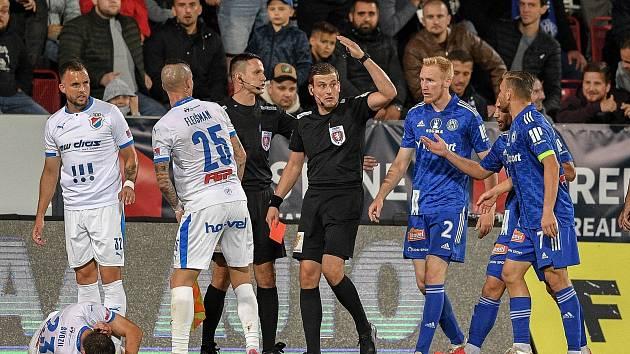 Utkání 8. kola první fotbalové ligy: SK Sigma Olomouc - FC Baník Ostrava 17. září 2021 v Olomouci