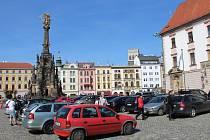 Olomouc v sobotu na Horní náměstí pustila na hodinu jakékoli auto, aby zdůraznila potřebnost strategického dokumentu nazvaného Plán udržitelné městské mobility.