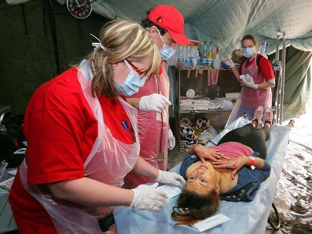 Velké mezinárodní cvičení záchranářů RAFEX 2014 v Přerově