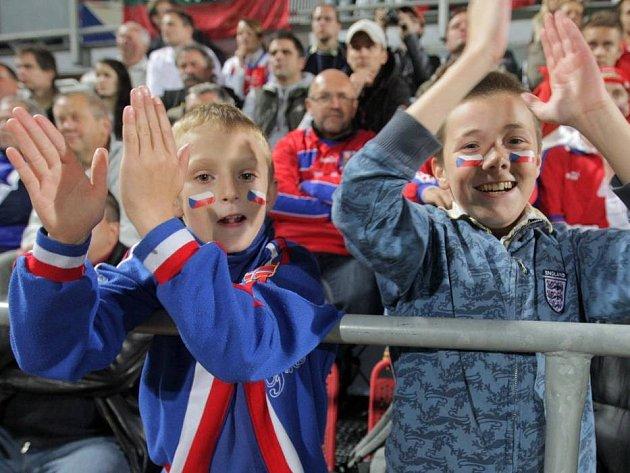 Fanoušci na zápase Česko - Litva v Olomouci. Ilustrační foto