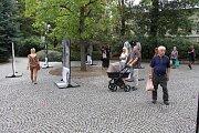 Výstava Paměť národa Olomouckého kraje v Šumperku.