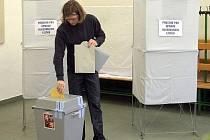 Komunální volby: volební místnost na ZŠ sv. Voršily v Aksamitově ulici