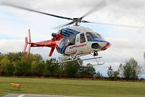 Současný vrtulní letecké záchranné služby v Olomouci. Ilustrační foto