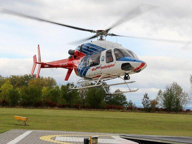 Současný vrtulní letecké záchranné služby vOlomouci. Ilustrační foto