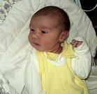 Jindřich Faltýnek, Litovel, narozen 21. března, míra 52 cm, váha 3700 g