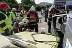 Soutěž ve vyprošťování z havarovaných aut - družstvo Olomouce