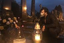 Dušičky, hřbitov Olomouc-Neředín, 31. října 2020