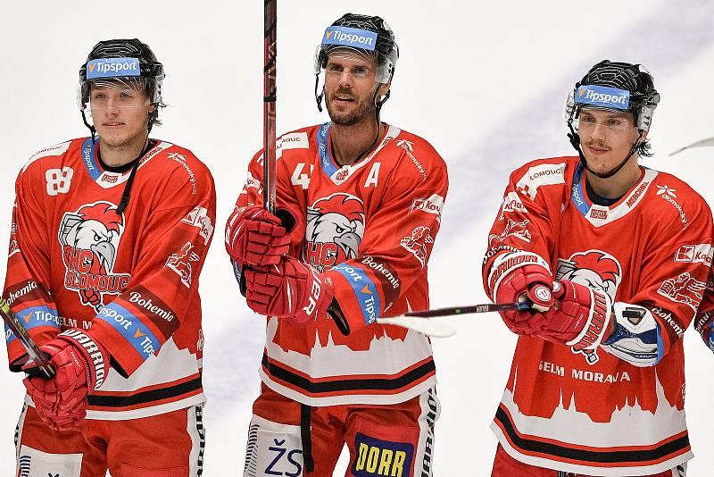 Utkání 1. kola hokejové extraligy: HC Olomouc - BK Mladá Boleslav, 10. září 2021 v Olomouci. (střed)  David Krejčí z Olomouce.
