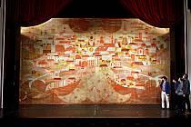 Zrestaurovaná opona Moravského divadla Olomouc