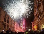 Novoroční ohňostroj v Olomouci 2019