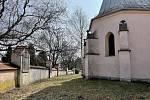 Křížová cestav Olomouci-Slavoníně u kostela svatého Ondřeje, březen 2021