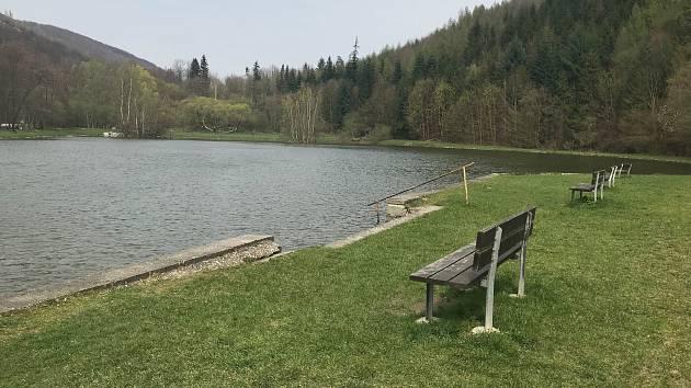 Rekreační areál v Dolním Žlebu u Šternberka