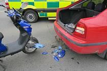 Nehoda se stala ve středu kolem osmé hodiny ráno na křižovatce ulic Pražská, Foerstrova a třída Míru.