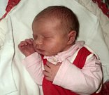 Eliška Skoupilová, Hrabišín, narozena 7. února ve Šternberku, míra 50 cm, váha 3740 g